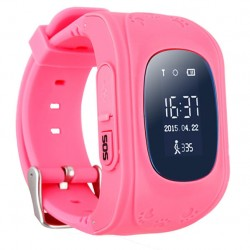 Παιδικό ρολόι με GPS, activity tracker Q50 Ροζ