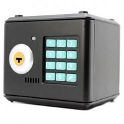 Κουμπαράς χρηματοκιβώτιο με ηλεκτρονικό συνδυασμό και κλειδί - Μαύρο