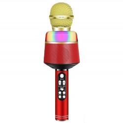 Ασύρματο μικρόφωνο BT με ηχείο Q008 - Κόκκινο χρυσό