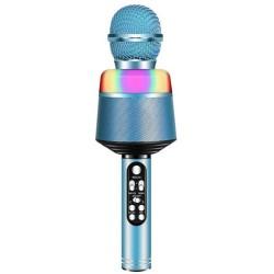 Ασύρματο μικρόφωνο BT με ηχείο Q008 - Μπλε