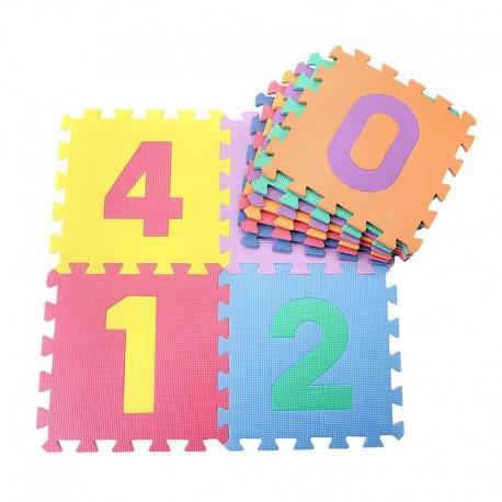 Χαλάκι παζλ δαπέδου EVA (30 x 30 cm) - Σχέδιο με αριθμούς - 10 τετράγωνα