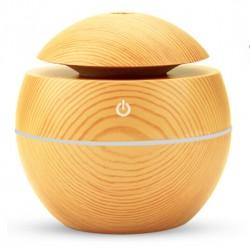 Υγραντήρας υπερήχων & Συσκευή αρωματοθεραπείας - Ultrasonic Aroma Humidifier round ανοιχτό καφέ