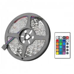 Αδιάβροχη ταινία LED με τηλεχειριστήριο High Power 5050 12V RGB 5m