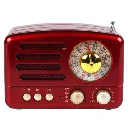 Μίνι φορητό vintage ηχείο 160BT - Κόκκινο