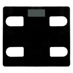 Ψηφιακή ζυγαριά από ανθεκτικό γυαλί - Μαύρη