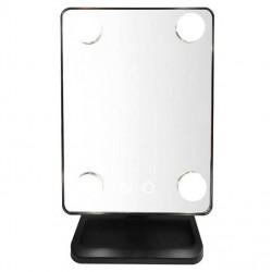 Στρογγυλός LED καθρέφτης - ανεμιστήρας για μακιγιάζ με μεγέθυνση X5