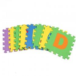 Χαλάκι παζλ δαπέδου EVA (30 x 30 cm) - Σχέδιο με γράμματα - 10 τετράγωνα