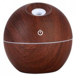 Υγραντήρας υπερήχων & Συσκευή αρωματοθεραπείας - Ultrasonic Aroma Humidifier round J007 σκούρο καφέ