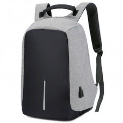 Τσάντα πλάτης αδιάβροχη με θύρα USB Anti-Theft Backpack Γκρι