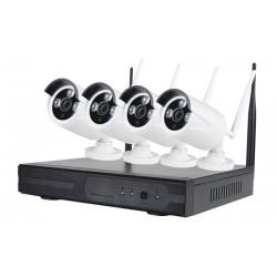WiFi Ολοκληρωμένο σύστημα CCTV 4 Κάμερες HD NVR Kit JORTAN KS-4NK1-720