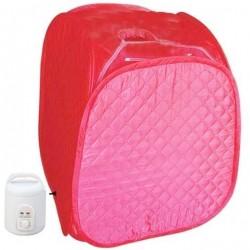 Φορητή σάουνα ατμού με αδιάβροχη ολόσωμη καμπίνα - Ροζ