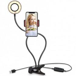 Επαγγελματικό Ring Light LED με Κλιπ, εύκαμπτο βραχίονα, βάση κινητού, USB - Professional Live Stream