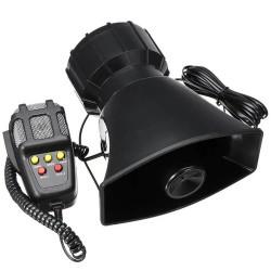 100W Hλεκτρικό μεγάφωνο-κόρνα-τηλεβόας με μικρόφωνο αυτοκινήτου 12V με 5 διαφορετικούς ήχους