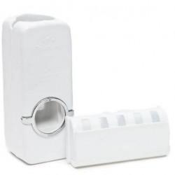 Θήκη τοίχου για 5 οδοντόβουρτσες και αυτόματη βάση για οδοντόκρεμα
