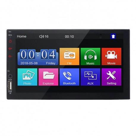"""Ηχοσύστημα MP5 2DIN με TFT HD οθόνη αφής 7"""" BT/FM/AM/TF/USB/Mirroring και χειριστήριο"""