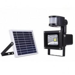 Αδιάβροχος επαναφορτιζόμενος ηλιακός προβολέας LED 10W/900Lm