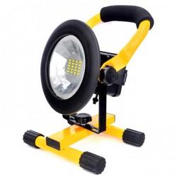 Eπαναφορτιζόμενoς φορητός LED προβολέας που ζουμάρει 30W 2400lm