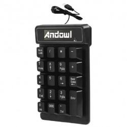 Ενσύρματο πληκτρολόγιο σιλικόνης - Flexible keyboard OEM κίτρινο