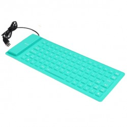 Ενσύρματο πληκτρολόγιο σιλικόνης - Flexible keyboard OEM τυρκουάζ