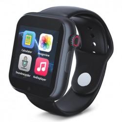 Smartwatch με οθόνη αφής, sim κάρτα, κάμερα - Μαύρο
