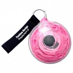 Τσάντα για ψώνια που διπλώνει σε ρολό - Ροζ