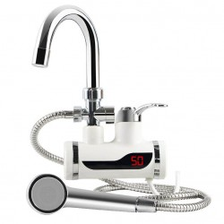 Ηλεκτρική βρύση ζεστού νερού με τηλέφωνο ντους