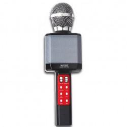 WSTER WS-1828 Ασύρματο bluetooth μικρόφωνο με ενσωματωμένο ηχείο, karaoke και disco light led Μαύρο