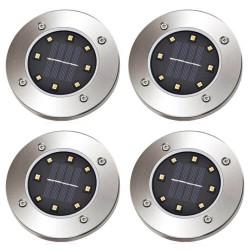 Ηλιακά φωτιστικά δαπέδου-κήπου με 8 LED - 4 τμχ