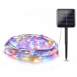 Ηλιακά χριστουγεννιάτικα φωτάκια LED 10m RGB