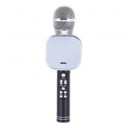 Q009 Ασύρματο bluetooth μικρόφωνο με ενσωματωμένο ηχείο, karaoke και disco light led Μαύρο