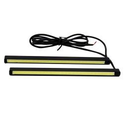 Αδιάβροχο σετ φώτα COB LED ημέρας για το αυτοκίνητο 5W/12V/16cm - Λευκό φως