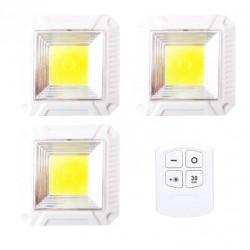 COB LED φώτα επιτοίχια με τηλεκοντρόλ 3 τμχ