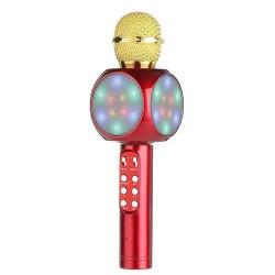 WS-1816 Ασύρματο bluetooth μικρόφωνο με ενσωματωμένο ηχείο, karaoke και disco light Χρυσό