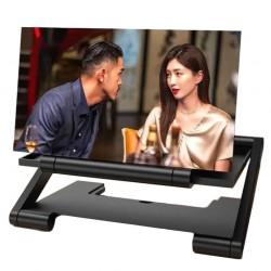 Μεγεθυντικός φακός οθόνη για κινητές συσκευές 3D F6 - Μαύρο