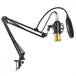 Επαγγελματικό πυκνωτικό μικρόφωνο BM700 με POP Filter και βάση Βραχίονα