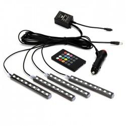 Σύστημα εσωτερικού φωτισμού αυτοκινήτου LED RGB 5050 9smd led 12V