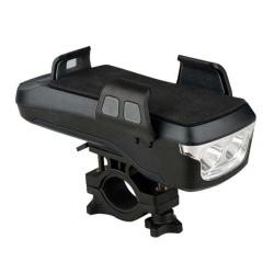 Φως πορείας ποδηλάτου, κόρνα και βάση κινητού OEM CK-2020 Μαύρο
