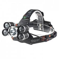Φακός κεφαλής CREE XM-L T6 + 4xQ5 LED με 4 λειτουργίες - 12000Lm