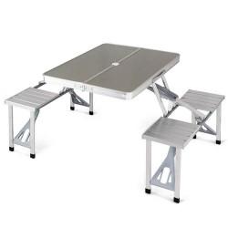 Πτυσσόμενο τραπέζι αλουμινίου πικ-νικ με 4 θέσεις - 8258