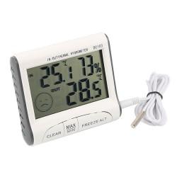 Ρολόι ξυπνητήρι με θερμόμετρο και υγρασιόμετρο εσωτερικού/εξωτερικού χώρου DC103