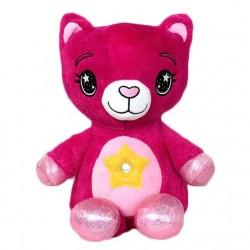 Λούτρινο αρκουδάκι με projector - Ροζ