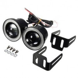 Προβολάκια Ομίχλης/Ημέρας LED 15W 12V 1200lm 64mm Angel Eyes R500