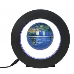 Μαγνητική αιωρούμενη υδρόγειος σφαίρα με φωτιζόμενη βάση κύκλος