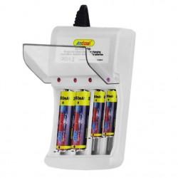 Φορτιστής πρίζας για επαναφορτιζόμενες μπαταρίες AA+AAA Andowl Q-CD100