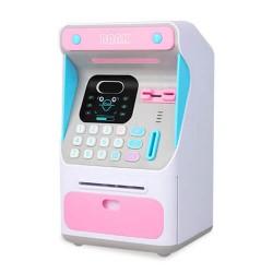 Κουμπαράς ATM με αναγνώριση προσώπου Ροζ