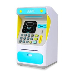 Κουμπαράς ATM με αναγνώριση προσώπου Γαλάζιο