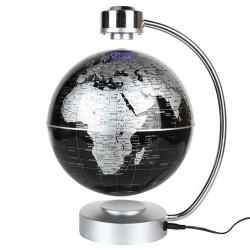 Μαγνητική αιωρούμενη υδρόγειος σφαίρα με LED φωτισμό - Ασημί