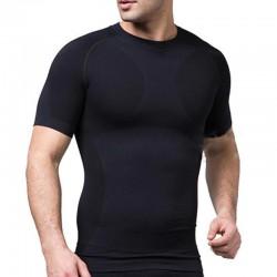Ανδρικό μπλουζάκι σύσφιξης κοντομάνικο - Μαύρο ΟΕΜ 52964