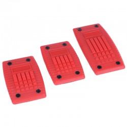 Αντιολισθητικά πεντάλ αυτοκινήτου - 3τμχ - Κόκκινο