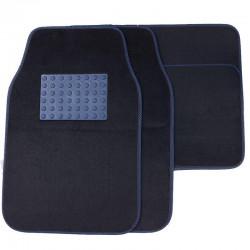 Πατάκια αυτοκινήτου - 4 θέσεων - Μαύρο/Μπλε